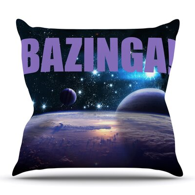 Bazinga Outdoor Throw Pillow
