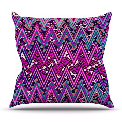 Electric Chevron by Nika Martinez Outdoor Throw Pillow