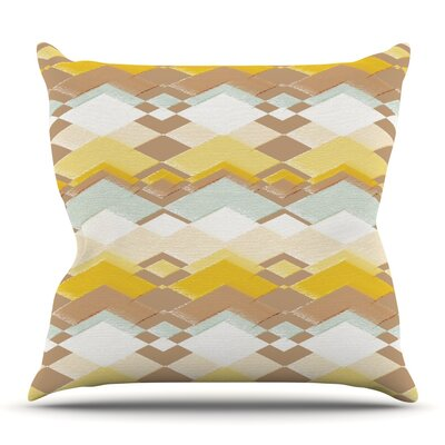 Retro Desert by Nika Martinez Outdoor Throw Pillow