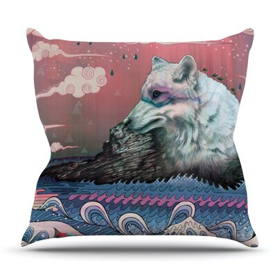 Lone Wolf by Mat Miller Outdoor Throw Pillow