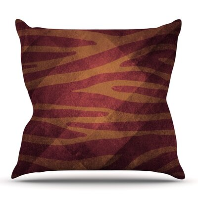 Zebra Texture by Nick Atkinson Outdoor Throw Pillow