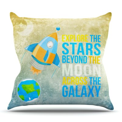 Explore the stars by Nick Atkinson Outdoor Throw Pillow