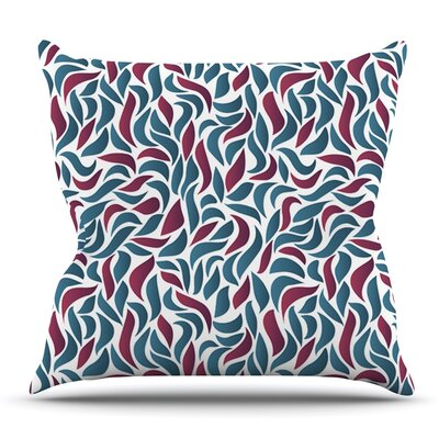 Collide by Nick Atkinson Outdoor Throw Pillow