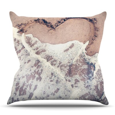 Heart Outdoor Throw pillow Size: 18