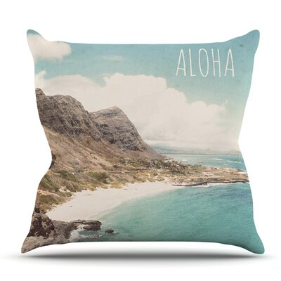 Aloha by Nastasia Cook Outdoor Throw Pillow Size: 18 H x 18 W x 8 D