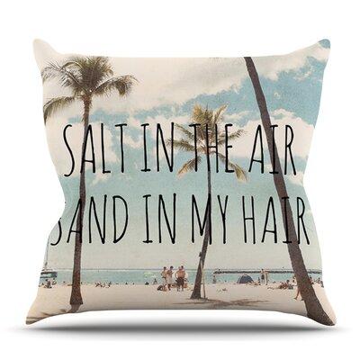 Salt Outdoor Throw Pillow Size: 18 H x 18 W x 8 D