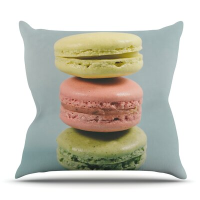 Macarons by Nastasia Cook Outdoor Throw Pillow Size: 18 H x 18 W x 8 D
