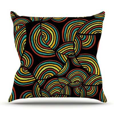 Infinite Depth by Pom Graphic Design Outdoor Throw Pillow