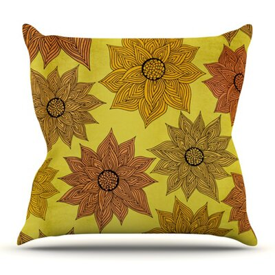 Its Raining Flowers by Pom Graphic Design Outdoor Throw Pillow