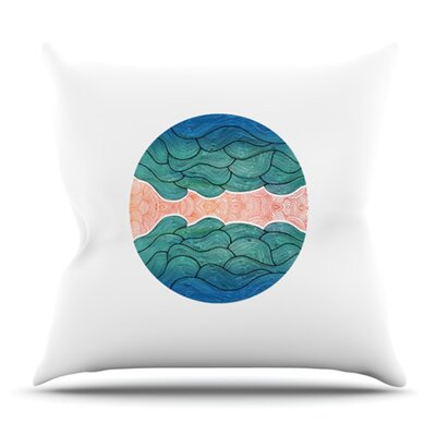 Ocean Flow by Pom Graphic Design Outdoor Throw Pillow