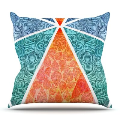 Pyramids of Giza by Pom Graphic Design Outdoor Throw Pillow