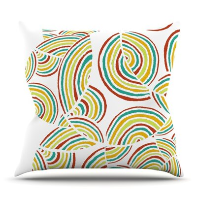 Rainbow Sky by Pom Graphic Design Outdoor Throw Pillow