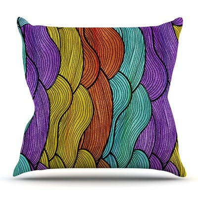 Textiles by Pom Graphic Design Outdoor Throw Pillow