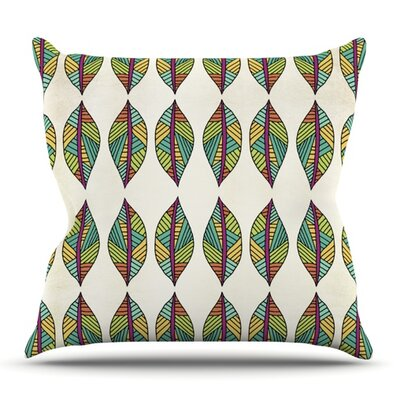 Tribal Leaves by Pom Graphic Design Outdoor Throw Pillow