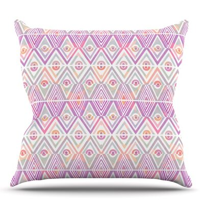 Soft Petal Tribal by Pom Graphic Design Outdoor Throw Pillow