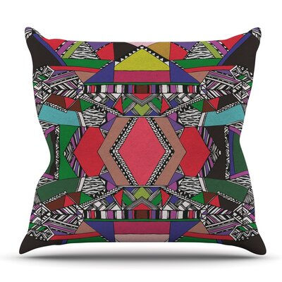 African Motif by Vasare Nar Outdoor Throw Pillow