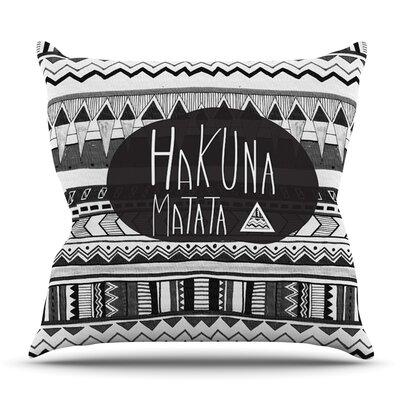 Hakuna Matata by Vasare Nar Outdoor Throw Pillow