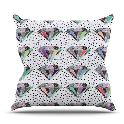 Polka Dot Diamonds by Vasare Nar Outdoor Throw Pillow