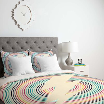 Fimbis Bolt Duvet Cover Size: King