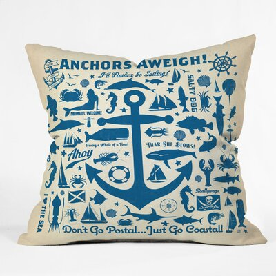 Anderson Design Group Indoor/Outdoor Throw Pillow Size: 16 H x 16 W x 4 D