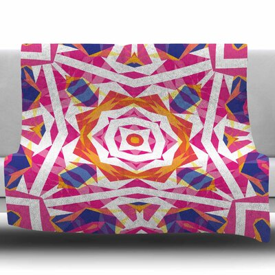 Paradise by Miranda Mol Fleece Blanket Size: 50 W x 60 L