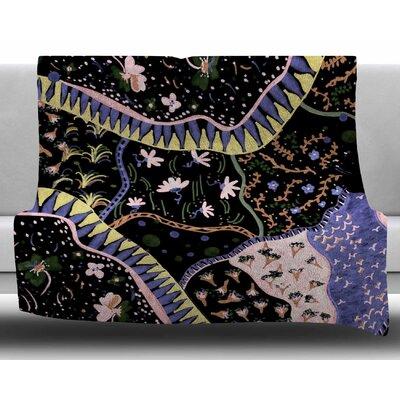 Oriental Patchwork by Fernanda Sternieri Fleece Blanket Size: 50 W x 60 L