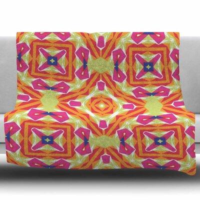 Summer Vibes by Miranda Mol Fleece Blanket Size: 50 W x 60 L