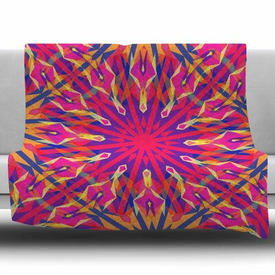 Whirling by Miranda Mol Fleece Blanket Size: 50 W x 60 L