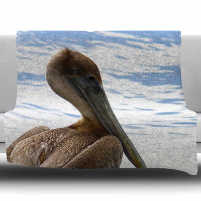 Pelican Waiting by Philip Brown Fleece Blanket Size: 50 W x 60 L