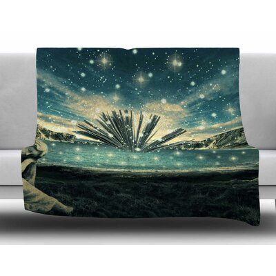 The Knowledge Keeper by 888 Design Fleece Blanket Size: 60 W x 80 L