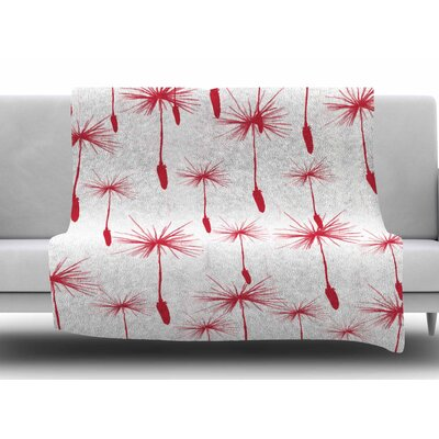 Dandelion by Suzanne Carter Fleece Blanket Size: 60 W x 80 L