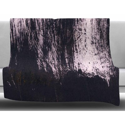 Brushstroke by Iris Lehnhardt Fleece Blanket Size: 60 W x 80 L