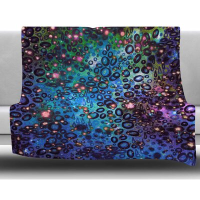 Rainbow Dotty Ocean by Ebi Emporium Fleece Blanket Color: Blue, Size: 60 W x 80 L
