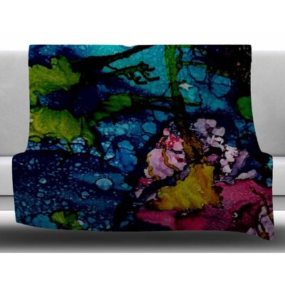 Sharks Cove by Abstract Anarchy Design Fleece Blanket Size: 50 W x 60 L