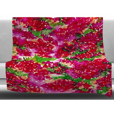 Floral Assumption by Ebi Emporium Fleece Blanket Size: 60 W x 80 L