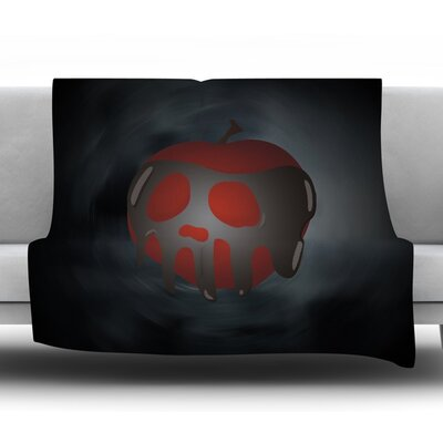 One Last Bite Poison Apple Fleece Blanket Size: 60 W x 80 L