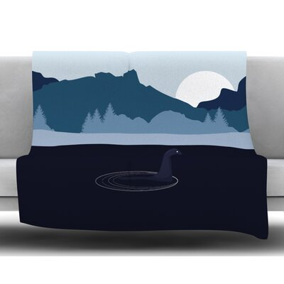 Swimming with Nessie Fleece Blanket Size: 60 W x 80 L