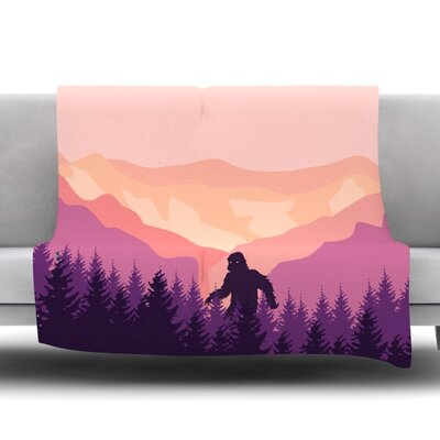 Big Foot Fleece Blanket Size: 50 W x 60 L
