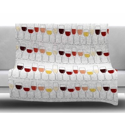 Fine Wines Fleece Blanket Size: 60 W x 80 L