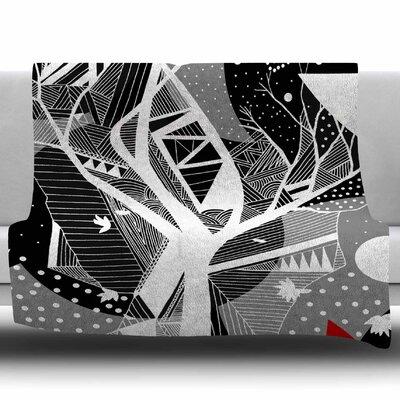 Geometric Play by Marianna Tankelevich Fleece Blanket Size: 60 W x 80 L