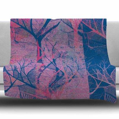 Fantasy Garden by Marianna Tankelevich Fleece Blanket Size: 60 W x 80 L