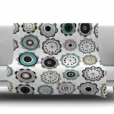 Artisan Floral by Jessica Wilde Fleece Blanket Size: 50 W x 60 L