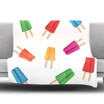 Raining Popsicle Fleece Blanket Size: 60 W x 80 L