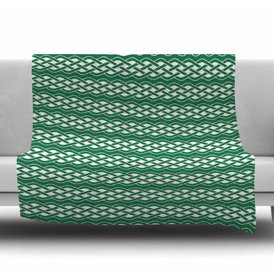 Celtic Texture Fleece Blanket Size: 50 W x 60 L
