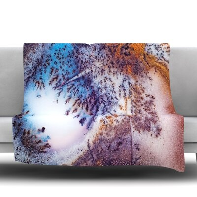 Snow Agate Fleece Blanket Size: 50 W x 60 L