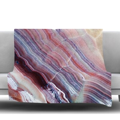 Sunrise Agate Fleece Blanket Size: 50 W x 60 L