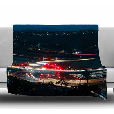 Chasing Lights by Just L Fleece Blanket Size: 50 W x 60 L