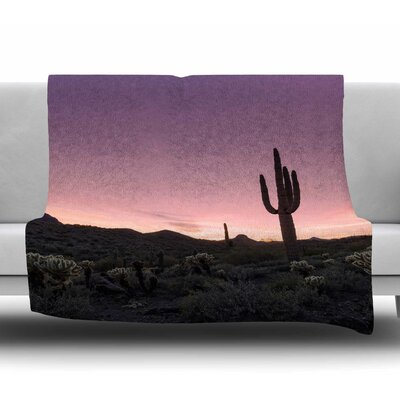 Tucson Sunset Fleece Blanket Size: 50 W x 60 L