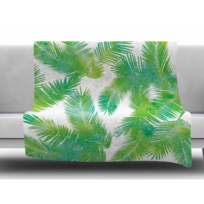 Tropic Summer by Draper Fleece Blanket Size: 60 W x 80 L