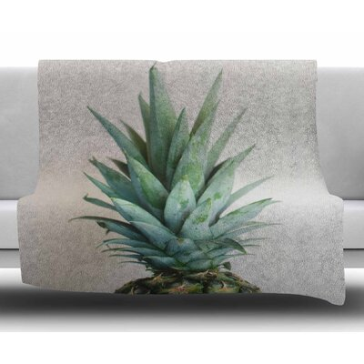 The Pineapple by Chelsea Victoria Fleece Blanket Size: 50 W x 60 L
